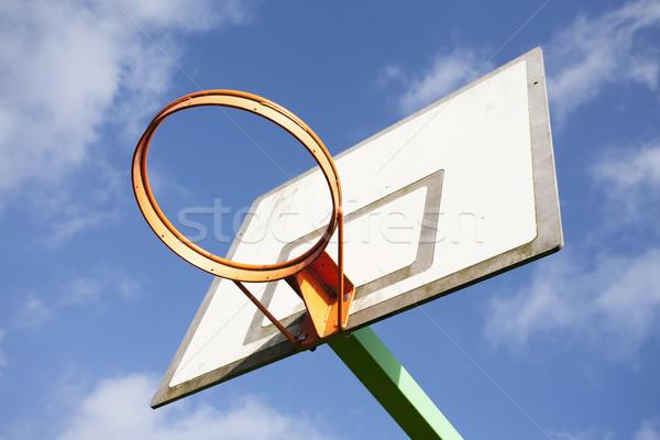 Laranja basquetebol blue sky branco nuvens esportes Foto stock © bobhackett