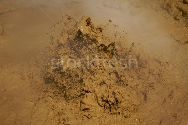 Błoto wulkaniczny parku California lata piasku Zdjęcia stock © bobkeenan
