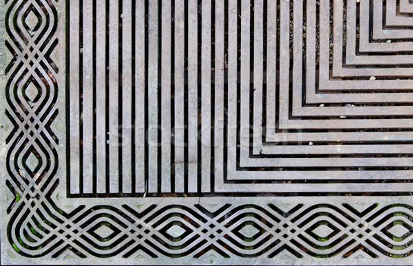 Ornate steel grate Stock photo © bobkeenan
