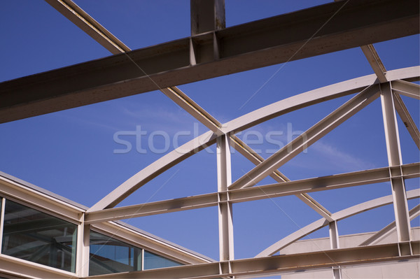 Girders sky windows Stock photo © bobkeenan