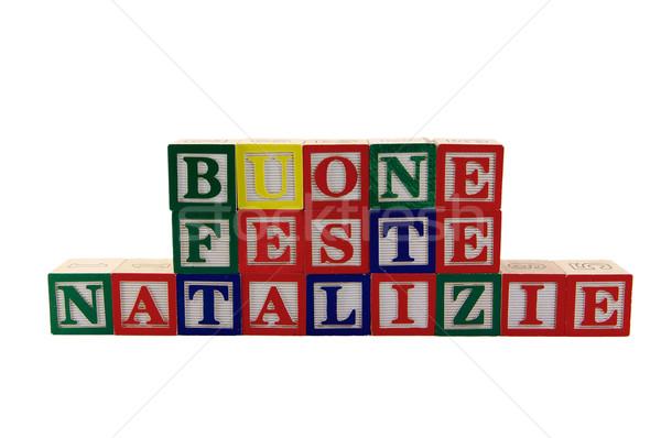 Verde rosso blu legno giocattolo alfabeto Foto d'archivio © bobkeenan