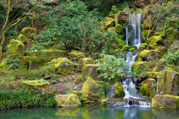Asian Garden Waterfall Stock photo © bobkeenan