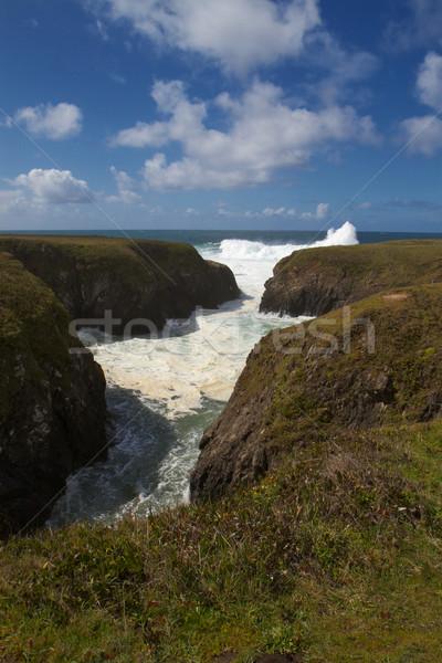 Waves and seashore channel Stock photo © bobkeenan
