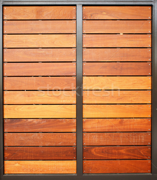 Wood Garage Doors Vertical Stock photo © bobkeenan