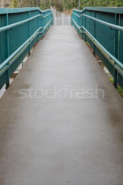 Zöld korlát rámpa fogyatékos elérhető felfelé Stock fotó © bobkeenan
