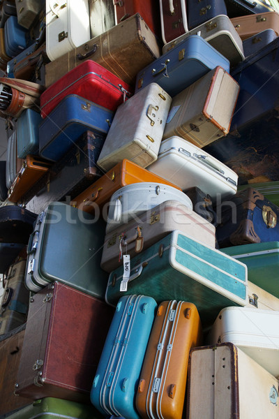 Pile of old luggage Stock photo © bobkeenan