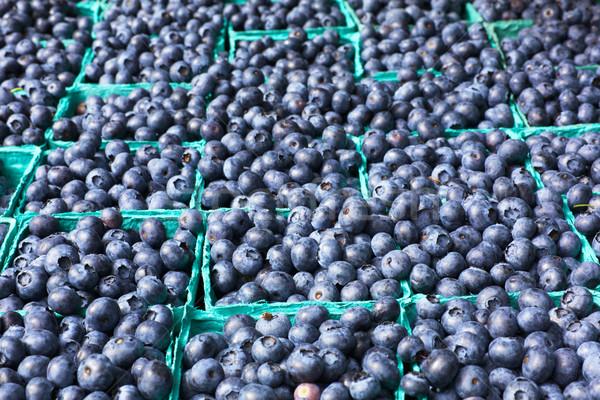 Zee bosbessen veel dozen zachte boeren Stockfoto © bobkeenan