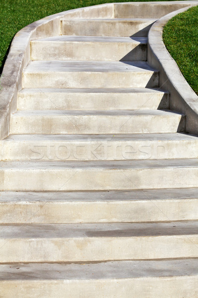 New Ascending Concrete Staircase Stock photo © bobkeenan