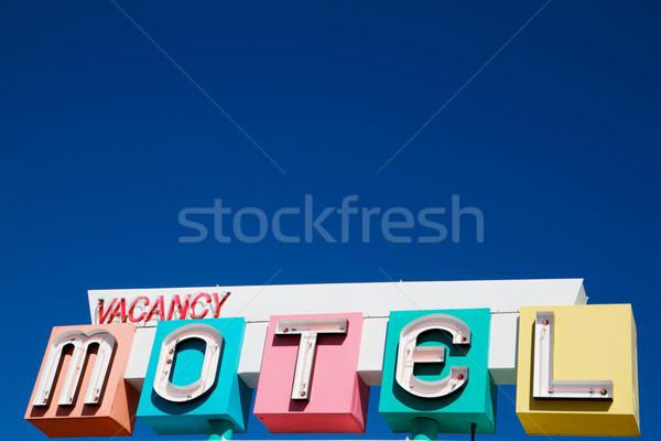 1950s Motel Sign Stock photo © bobkeenan