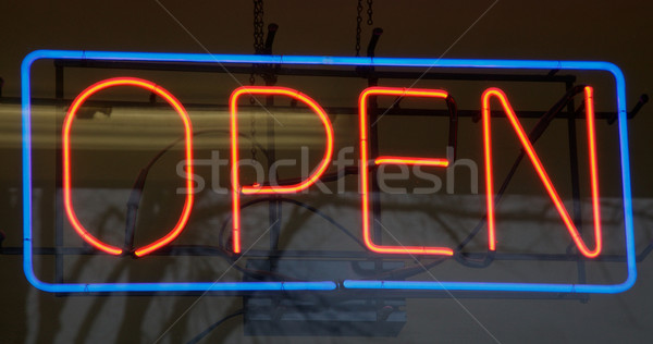 Neon open sign Stock photo © bobkeenan