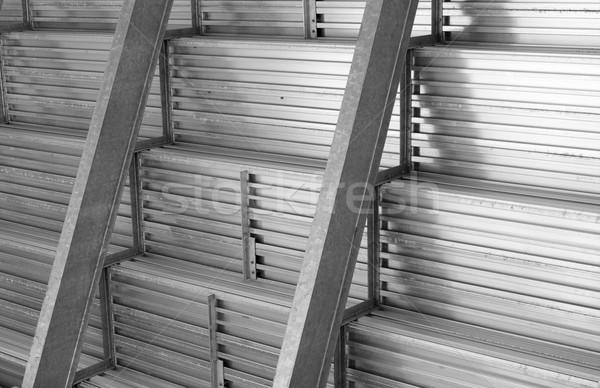 Aluminium structuur baseball stadion Stockfoto © bobkeenan