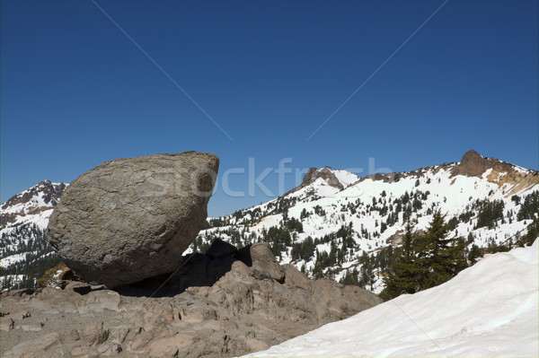 Boulder and Mountain Range Stock photo © bobkeenan