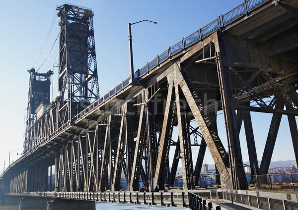 Old Steel bridge Stock photo © bobkeenan