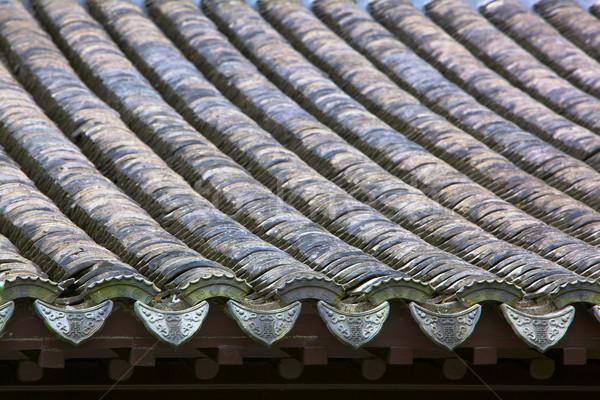 中国語 タイル 屋根 ストックフォト © bobkeenan