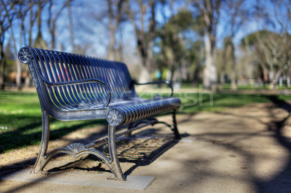 Park Bench narrow dof HDR Stock photo © bobkeenan