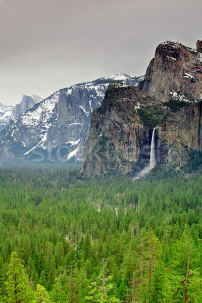 Yosemite zasłona dolinie doliny Zdjęcia stock © bobkeenan