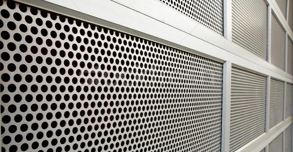 Veiligheid deur staal garage perspectief textuur Stockfoto © bobkeenan