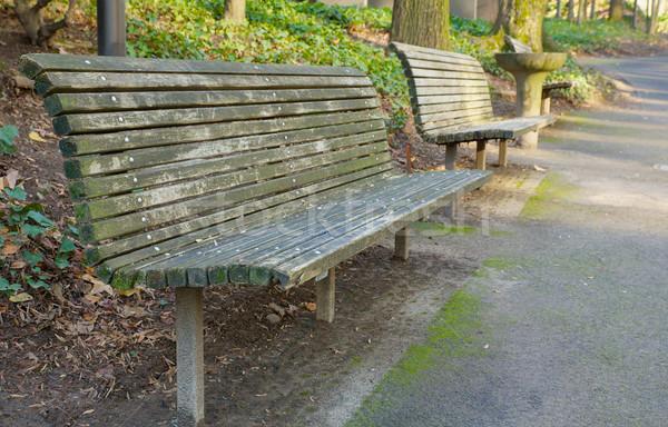 公園 ベンチ 観点 丘 歩道 ストックフォト © bobkeenan