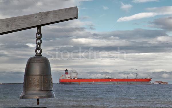Chinese bel schip bronzen zachte focus Stockfoto © bobkeenan