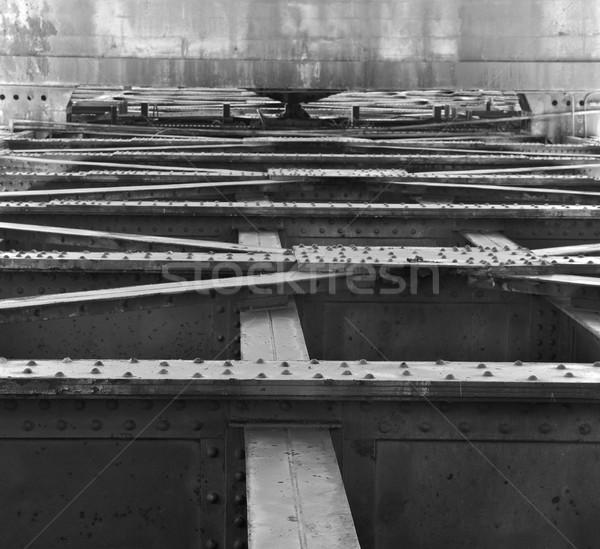 Staal beton oude achtergrond muur Stockfoto © bobkeenan