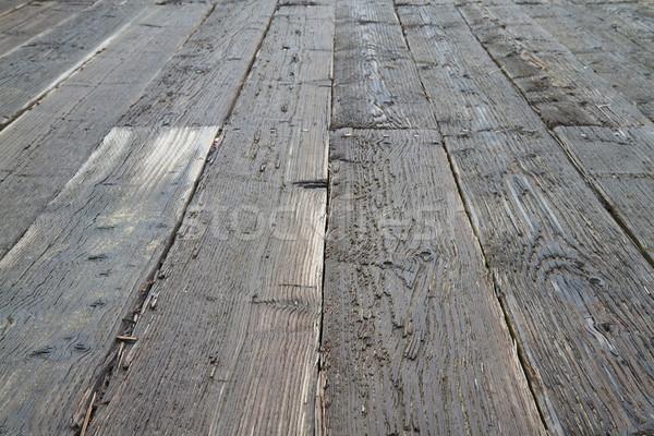 Wet Pier Decking Stock photo © bobkeenan