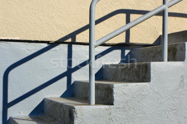 Открытый лестница конкретные бежевый серый здании Сток-фото © bobkeenan