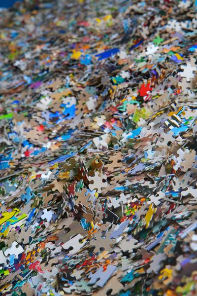 Piles of jigsaw pieces Stock photo © bobkeenan