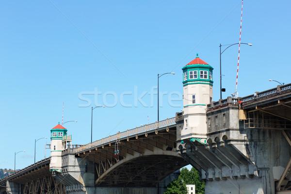 Topo ponte imagem Oregon sem nuvens Foto stock © bobkeenan