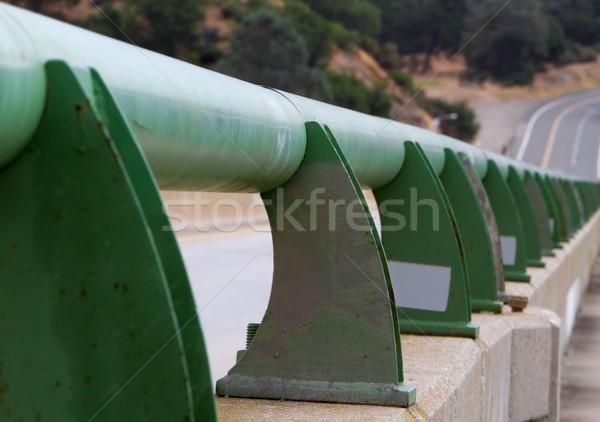 Bridge pedestrian guard rail Stock photo © bobkeenan