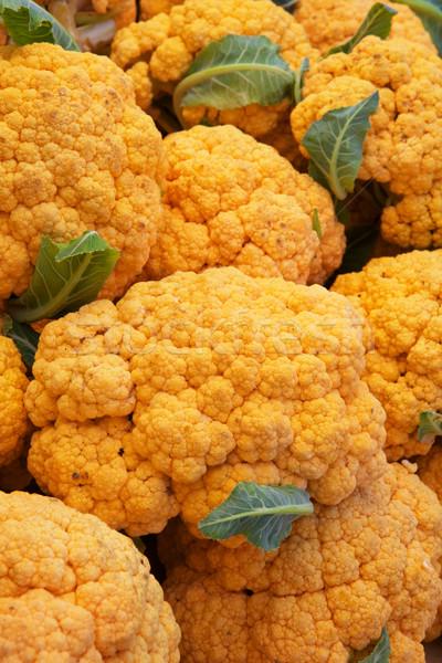 Oranje bloemkool heldere boeren markt Stockfoto © bobkeenan