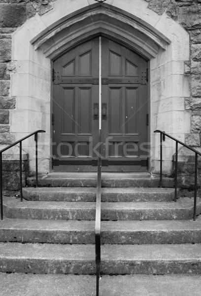 教会 ドア 手順 古い スタイル 石 ストックフォト © bobkeenan