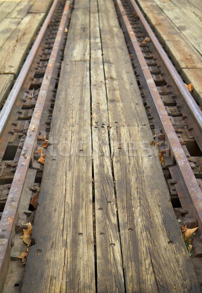 railroad tracks of a round table Stock photo © bobkeenan