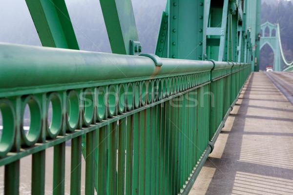 Railing perspective St. Johns Bridge Stock photo © bobkeenan