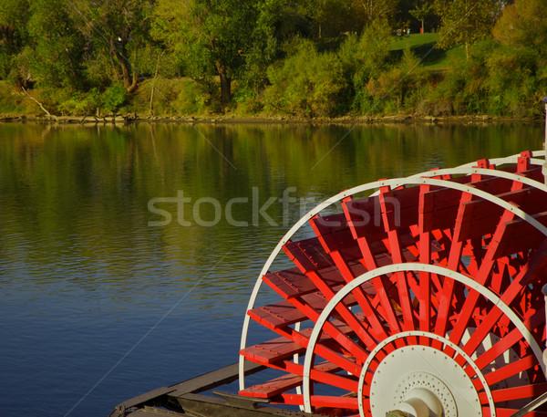 riverboat paddles Stock photo © bobkeenan