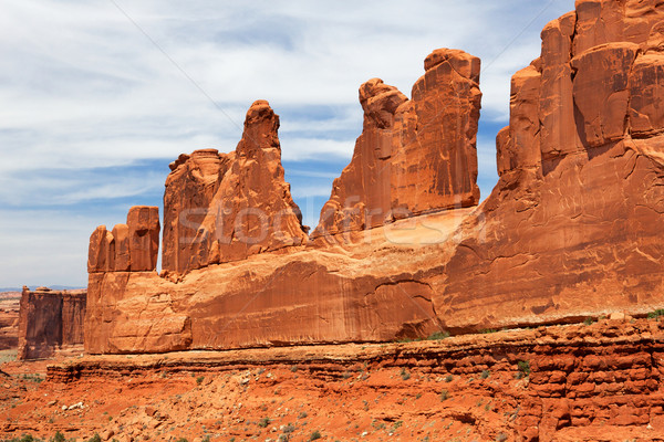Right side of National Park Avenue shallower focus Stock photo © bobkeenan