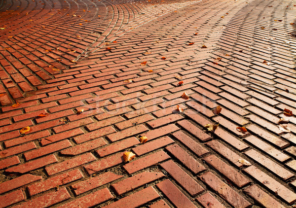 Red brick road split Stock photo © bobkeenan