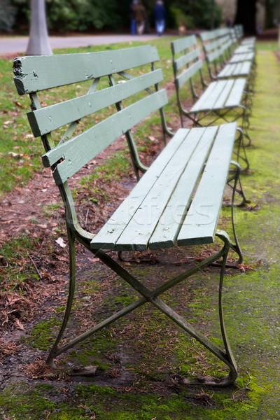 7 緑 公園 ツリー 木材 ストックフォト © bobkeenan