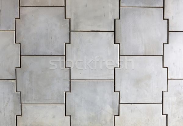 Interlocking concrete wall Stock photo © bobkeenan
