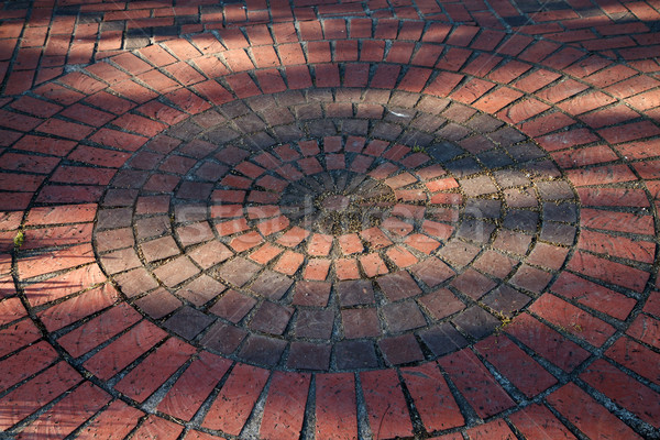 Brick circles Stock photo © bobkeenan