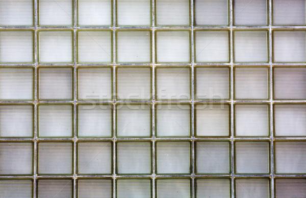 Ribbed Glass block wall  Stock photo © bobkeenan