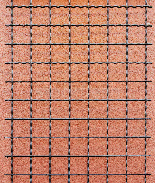 Wire grid stucco wall vertical Stock photo © bobkeenan