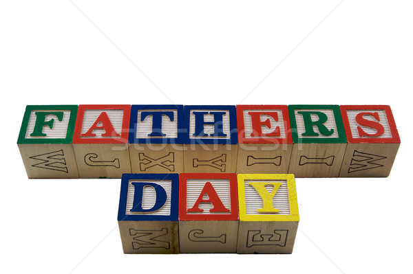 Wood Blocks Fathers day Stock photo © bobkeenan