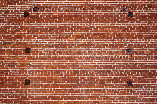 Brick wall steel support Stock photo © bobkeenan