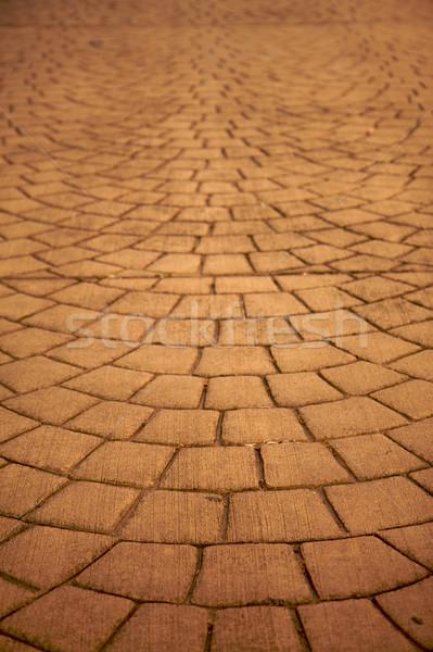 Yatay ışık kahverengi taşlar yol inşaat Stok fotoğraf © bobkeenan