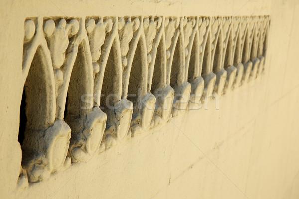 Díszes fal tulajdonság bézs részleg tulajdonságok Stock fotó © bobkeenan