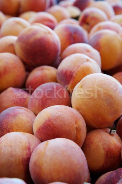 Perziken markt zachte focus Stockfoto © bobkeenan
