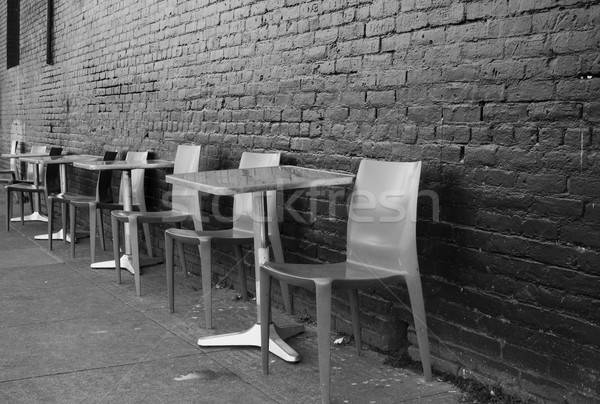 Sidewalk Seating Stock photo © bobkeenan