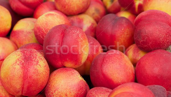 Nectarine fruits accent Photo stock © bobkeenan