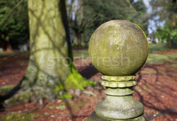 Mossy globe statue Stock photo © bobkeenan