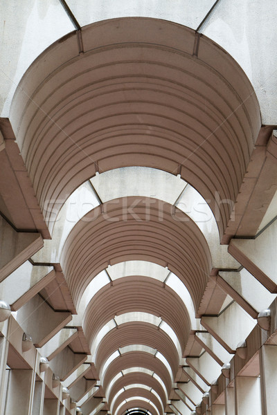 Modern Arched hallway Ceiling Vertical Stock photo © bobkeenan